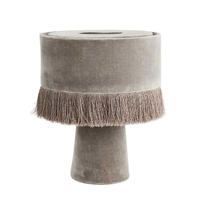 Lámpara de sobremesa Velvet, gris