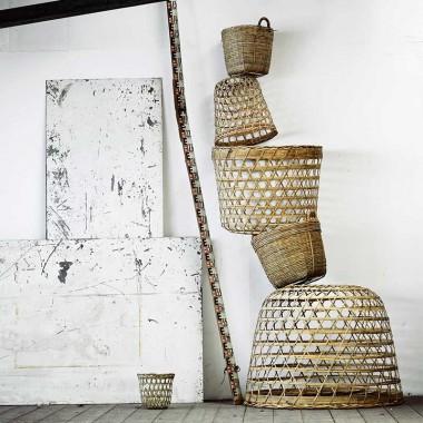 Pantalla / Cesta de bambú, Stella S