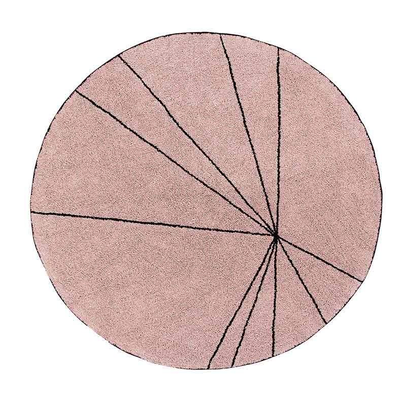 Alfombra Trace nude, Ø160cm