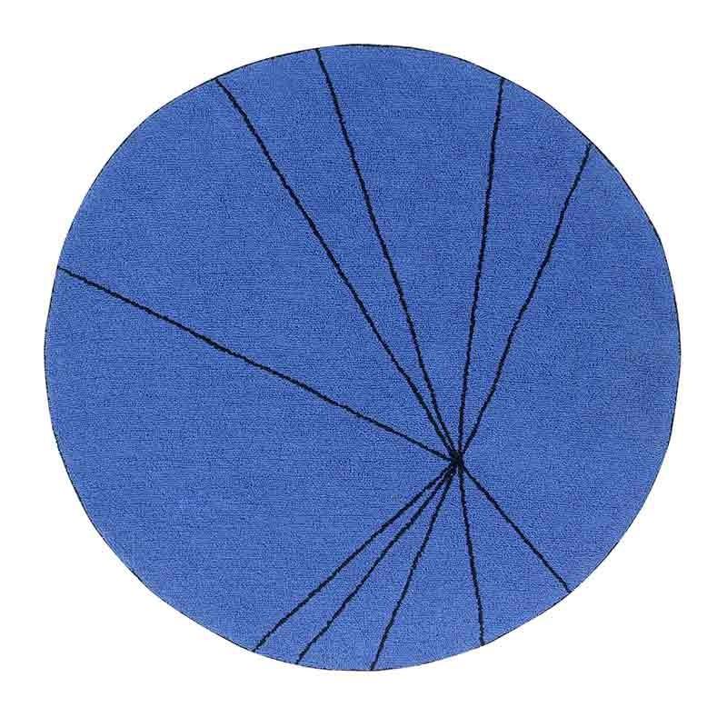 Alfombra Trace sapphire, Ø160cm