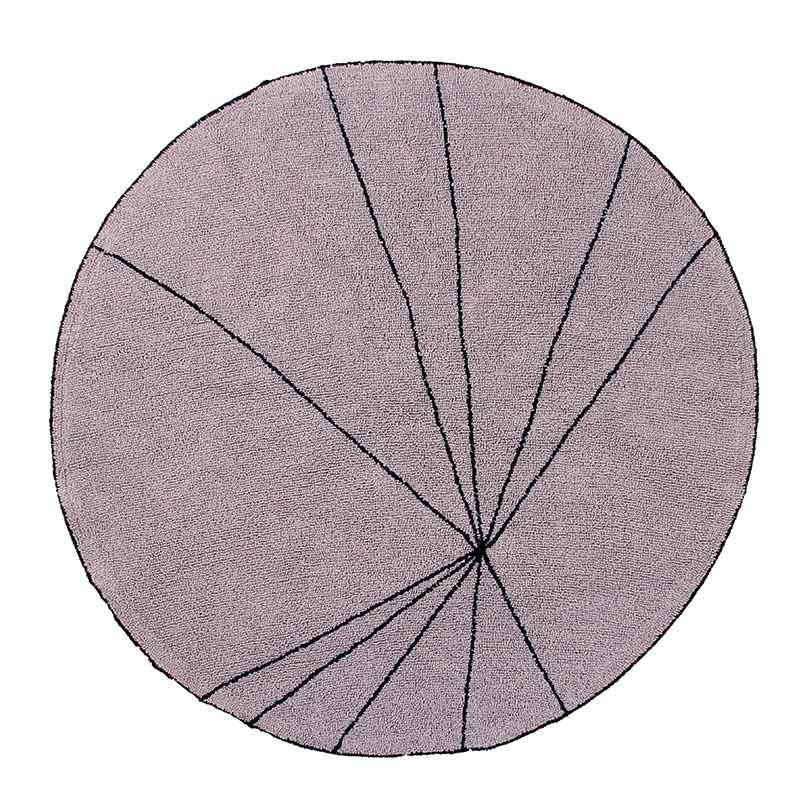 Alfombra Trace rosa, Ø160cm