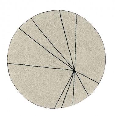 Alfombra Trace beige, Ø160cm