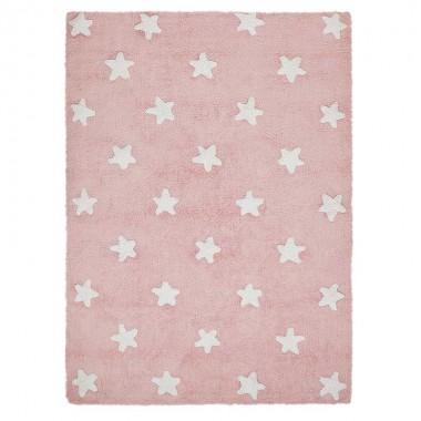 Alfombra Estrellas rosa, 120x160cm