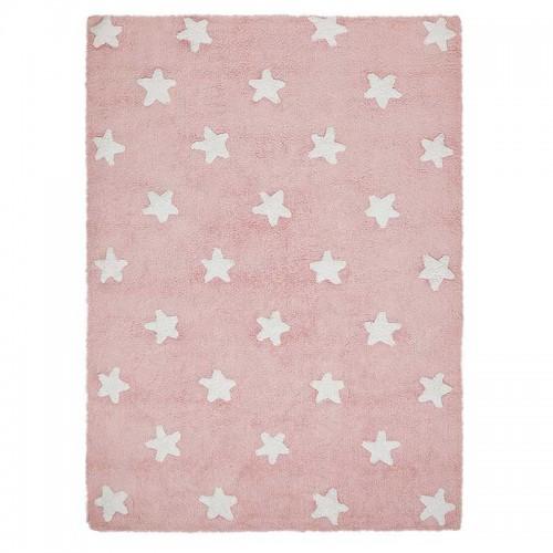 Alfombra Stars rosa, 120x160cm