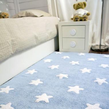 Alfombra Estrellas azul, 120x160cm