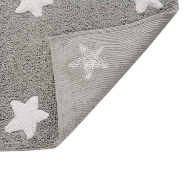 Alfombra Estrellas gris, 120x160cm