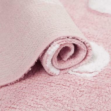 Alfombra Dots rosa, 120x160cm