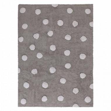 Alfombra Dots gris, 120x160cm