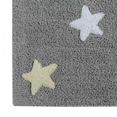 Alfombra Dots gris - rosa, 120x160cm