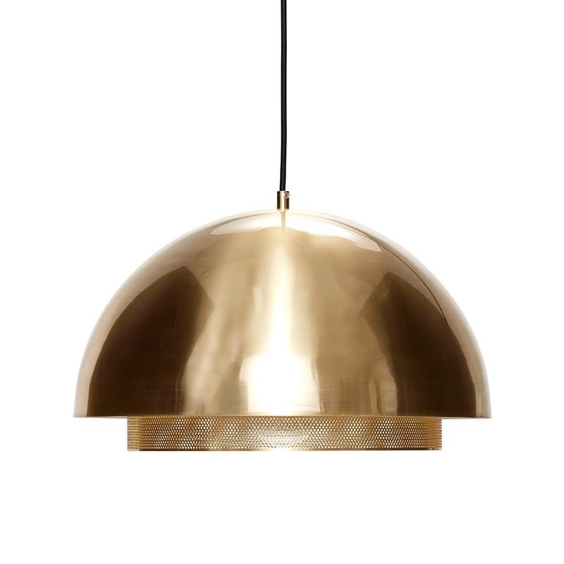Lámpara de techo Halan, latón