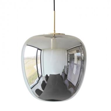 Lámpara Lucía gris ahumado, M
