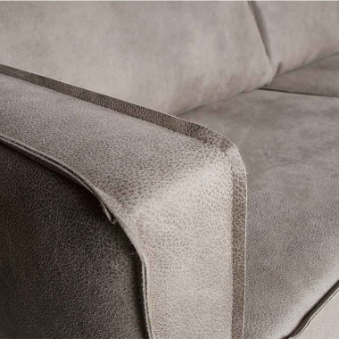 Sofá esquinero Rodeo L, gris cálido