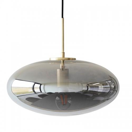 Lámpara Selania, gris ahumado