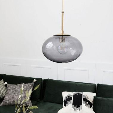 Lámpara Opal gris, varios tamaños