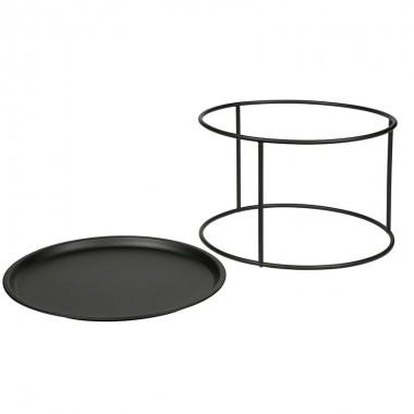 Mesa auxiliar Ivar L, Ø56cm negro