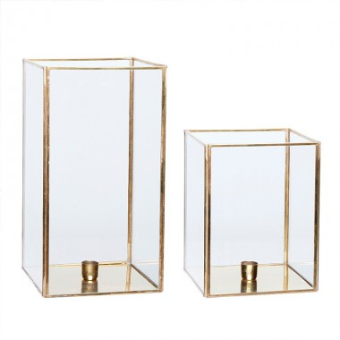 Set portavelas Brass