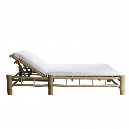 Tumbona doble Bambú, blanco