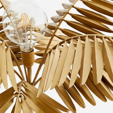 Lámpara sobremesa Palm, latón