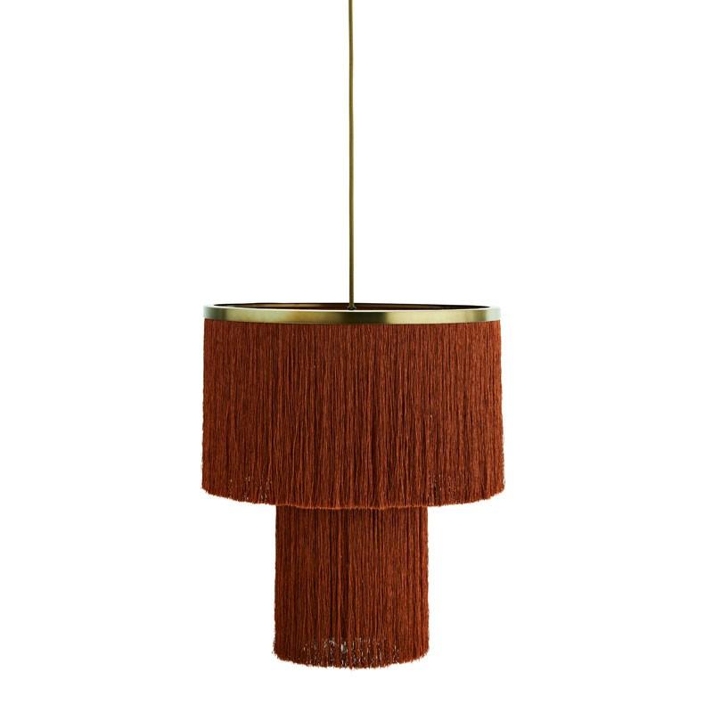 Lámpara de techo Tassel, naranja