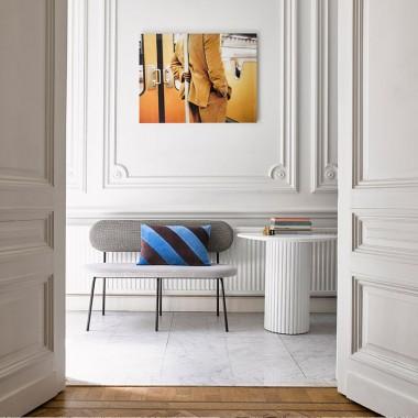 Mesa auxiliar Pillar, blanco