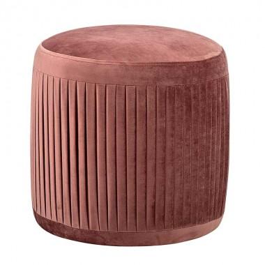 Puf Velvet, rosa