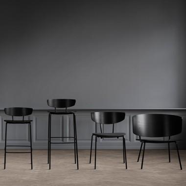 Silla Herman tapizada, negro