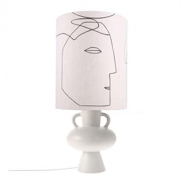 Base lámpara sobremesa Amphora L, blanco