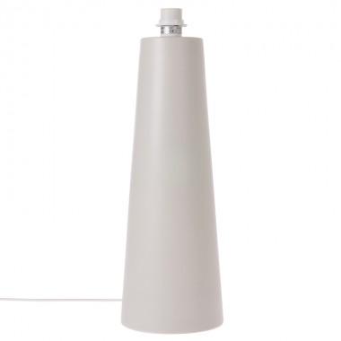Pie lámpara sobremesa Cone L, gris