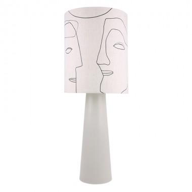 Pantalla lámpara sobremesa Faces L