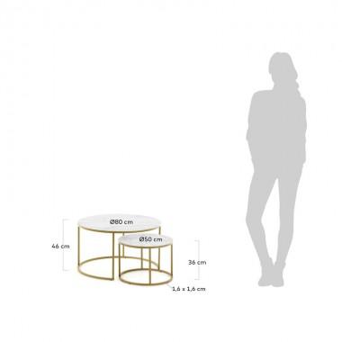 Set mesas centro Leonor