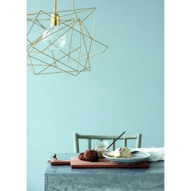 Pantalla de lámpara asimétrica dorada