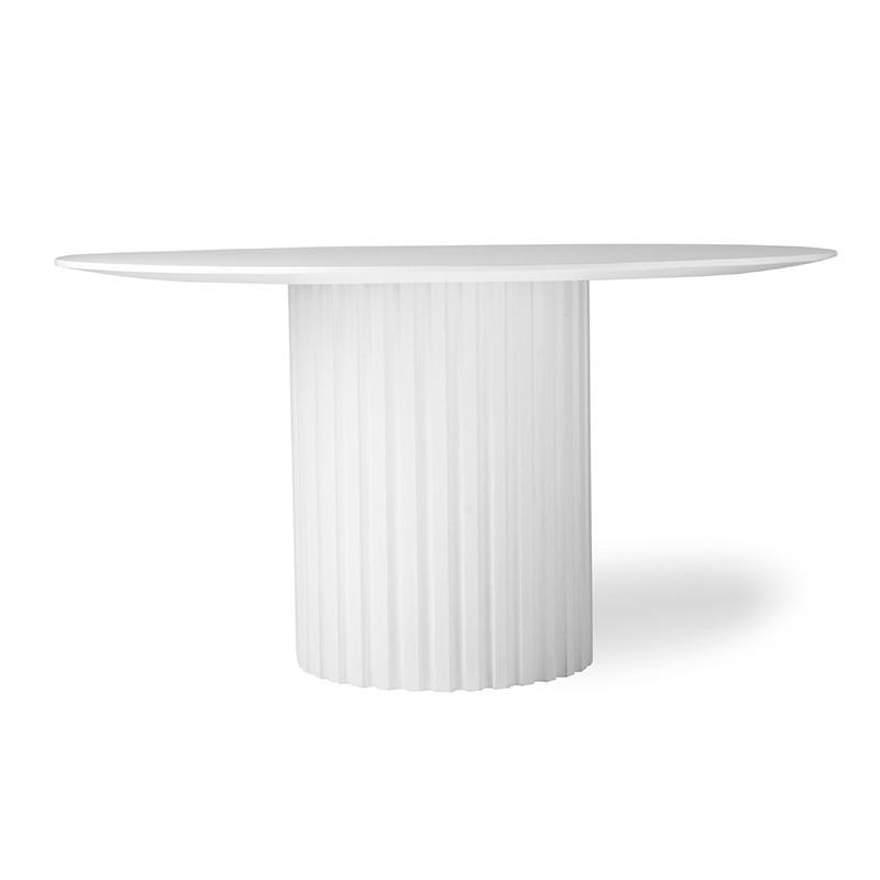 Mesa de comedor Pillar, blanco