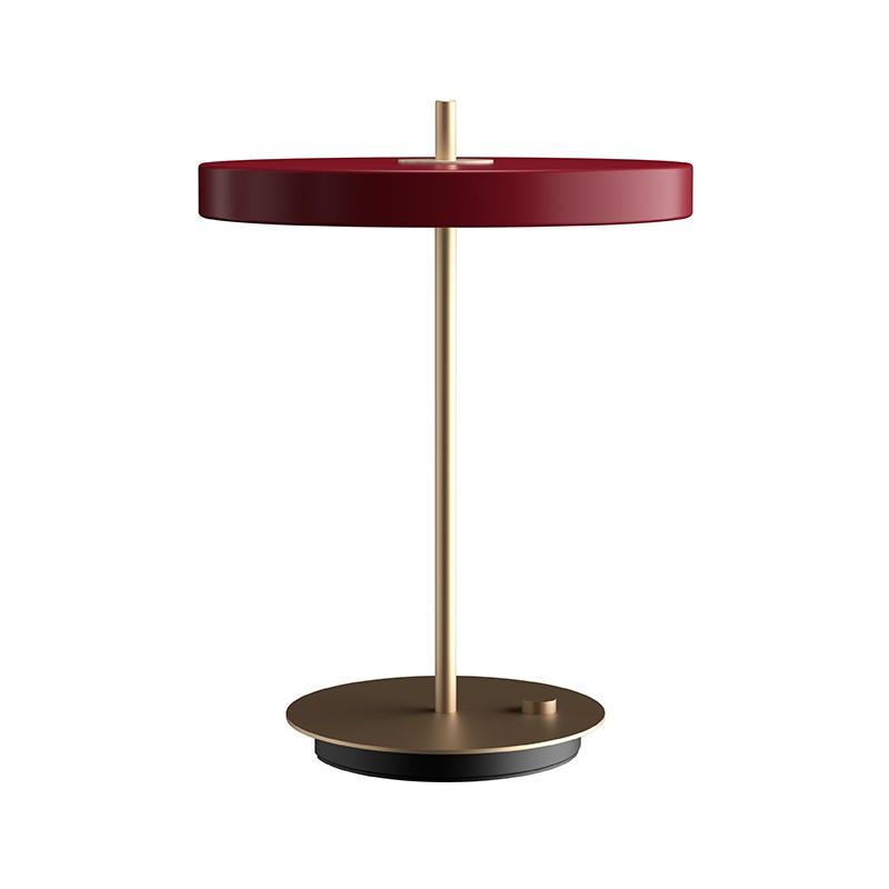 Lámpara sobremesa Asteria, rojo