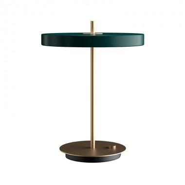 Lámpara sobremesa Asteria, verde
