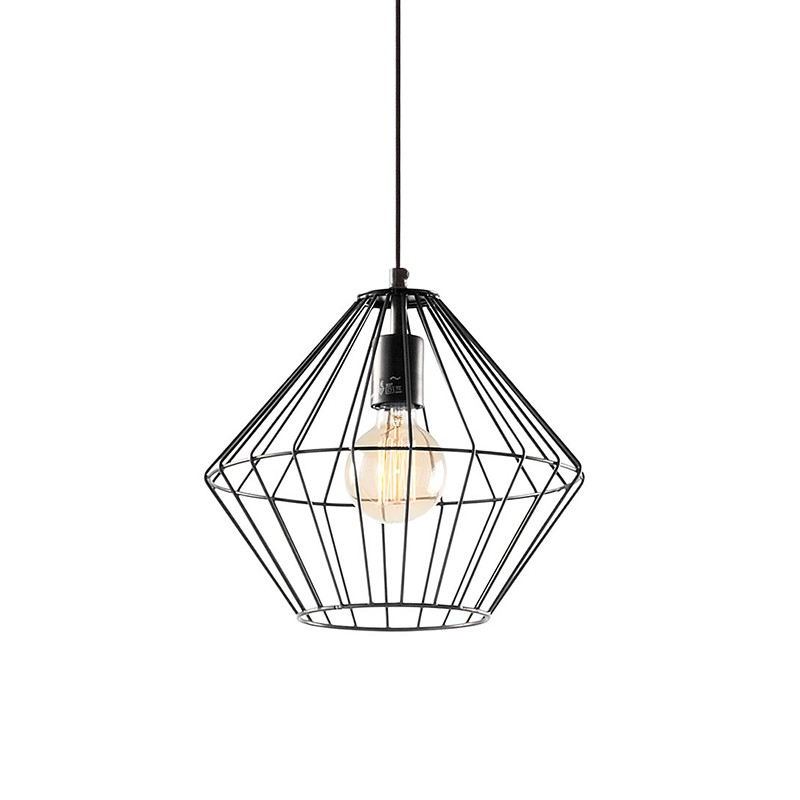 Lámpara techo Rhombus, negro