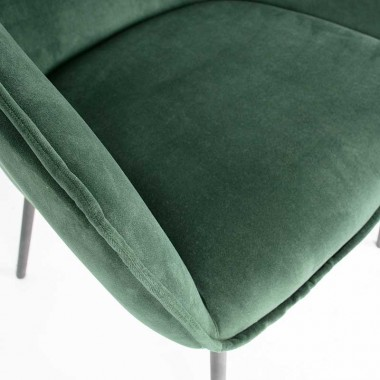 Silla Sien, terciopelo verde