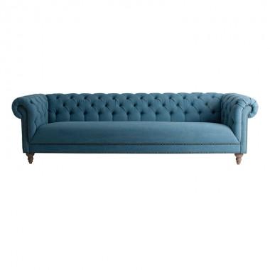 Sofá Serini, azul 271cm