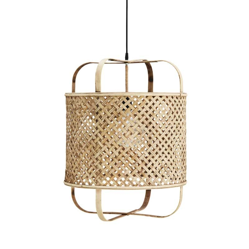 lámpara de techo de bambú trenzado