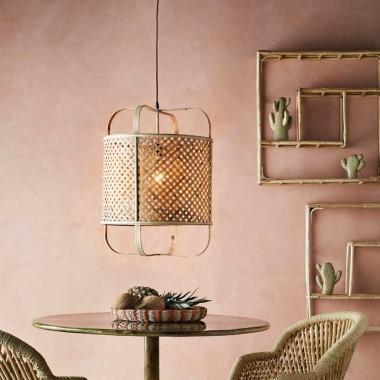 lámpara de diseño de bambú