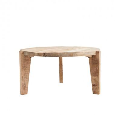 mesa de centro madera natural