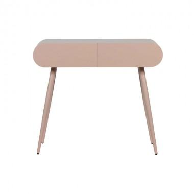 mesa auxiliar consola rosa