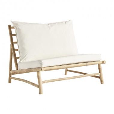 Butaca lounge Slow, blanco