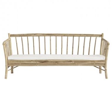 Sofá Lounge Bambú, blanco