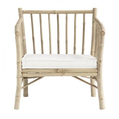 Sillón Bambú, blanco