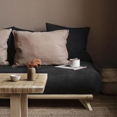 Sofá cama Senza, gris oscuro