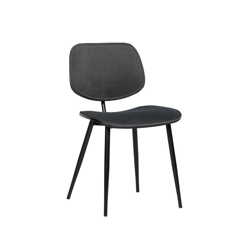 silla terciopelo gris