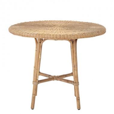 mesa redonda para dos en ratan