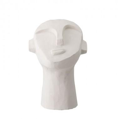 escultura cemento blanco decoración