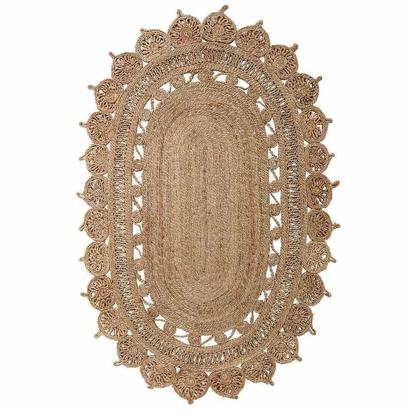 alfombra ovalada yute natural