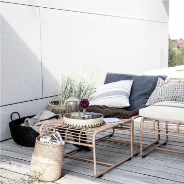 Mesa exterior Oluf, natural